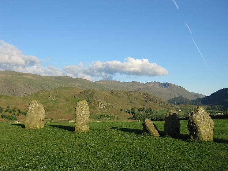 High Rigg and Helvellyn from Castlerigg Stone Circle