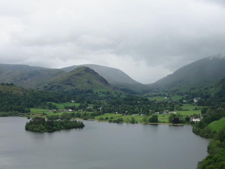 Zooming in on Helm Crag and Dunmail Raise