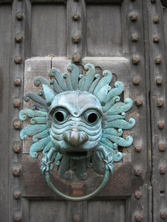 A large door knocker at Brougham Hall