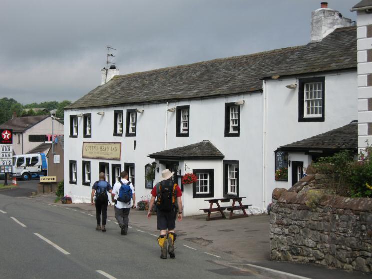 Passing the Queen's Head Inn, Tirril