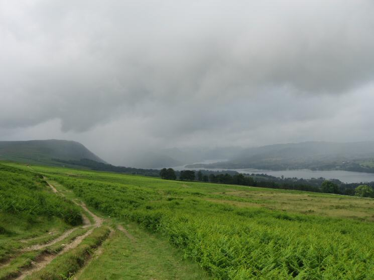 Ullswater and Arthur's Pike from the Roman Road below Heugh Scar