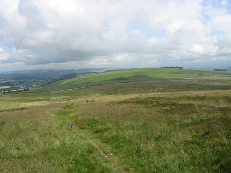 Looking back to Heughscar Hill