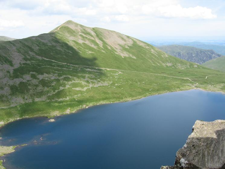 Looking over Red Tarn to Catstycam from Striding Edge