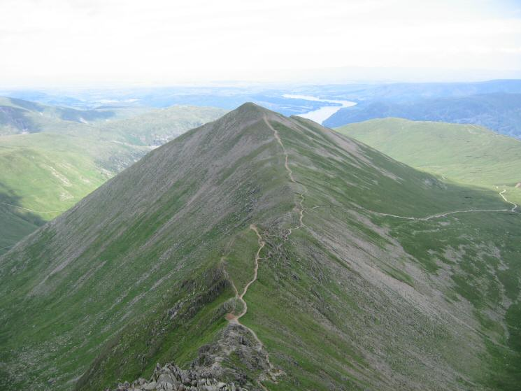 Catstycam from the top of Swirral Edge