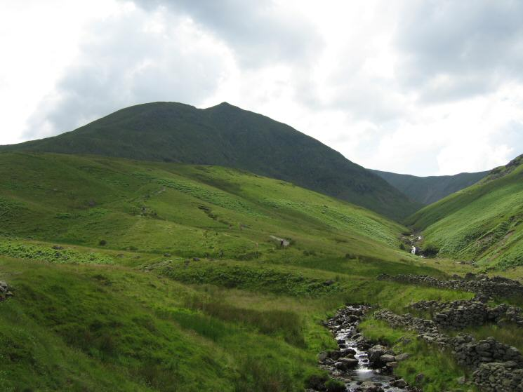 Looking back to Catstycam from Glenridding