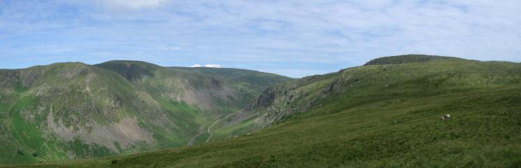 Upper Longsleddale from Great Howe - Goar Scar, Kentmere Pike, Harter Fell and Tarn Crag
