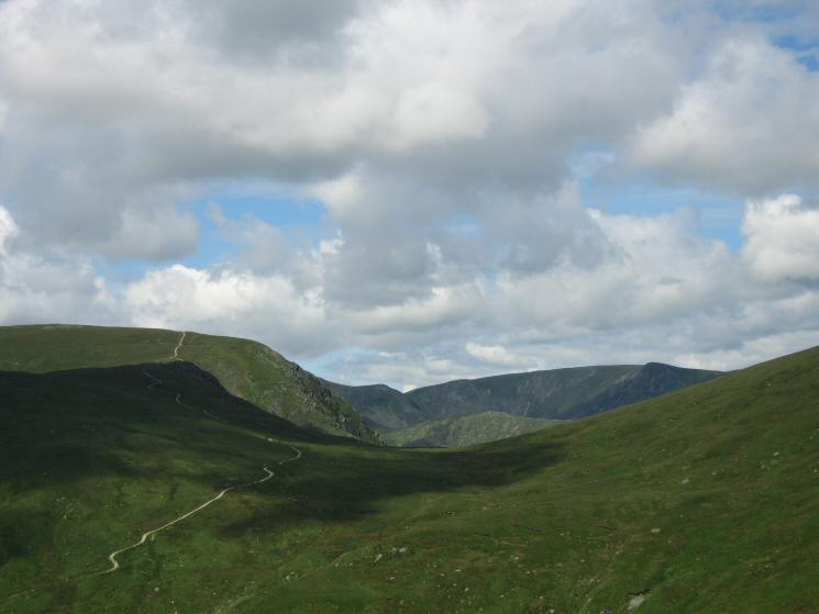 Gatescarth Pass and the repaired path up Harter Fell