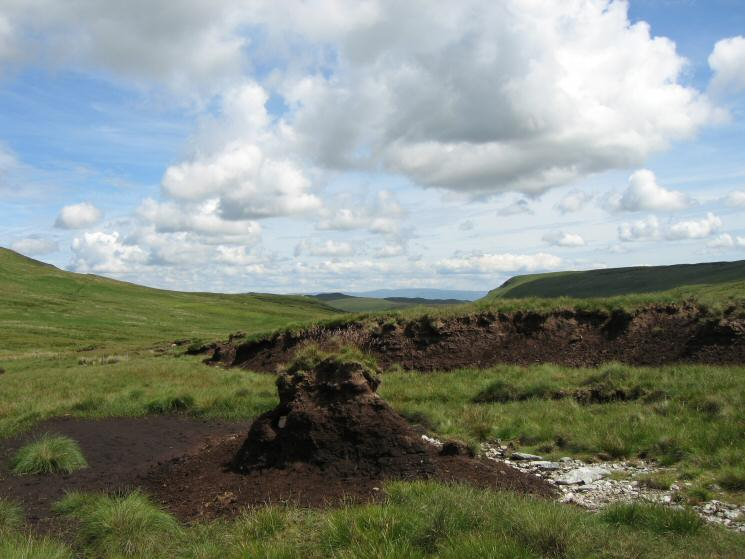 Peat hags, dry at this time of the year, thankfully