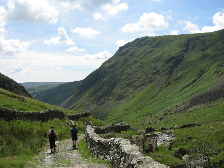 Heading down Longsleddale with Goat Scar on the right