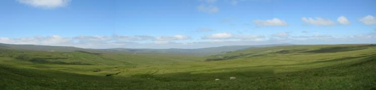 North westerly panarama from near Pikeman Hill showing the miles of open country