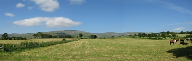Cross Fell, Little Dun Fell and Great Dun Fell from near Milburn