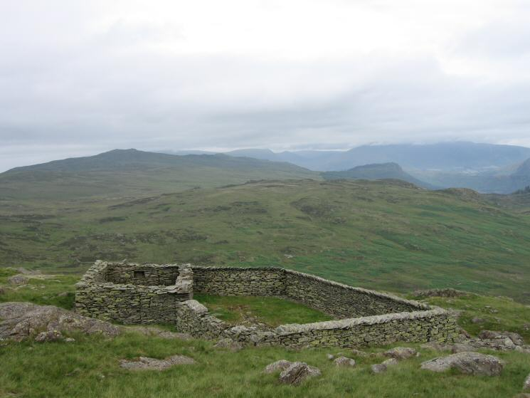 The large sheepfold just to the north of Bell Crags
