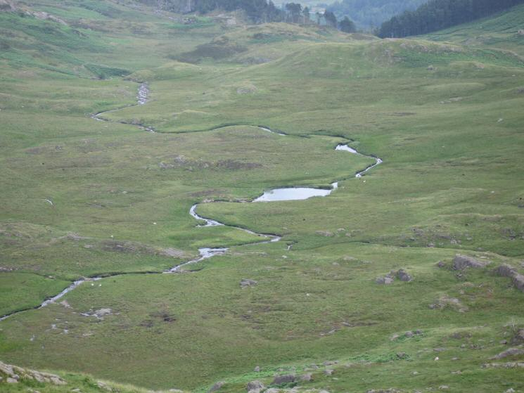Looking down on Launchy Tarn