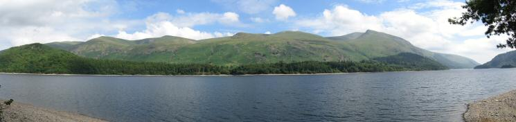 The Dodds and Helvellyn from Thirlmere's shore