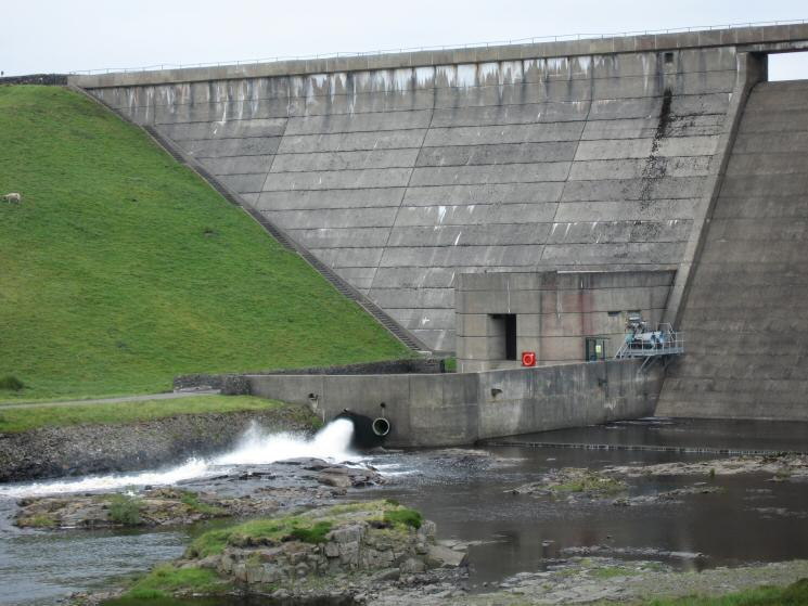 Cow Green Dam, the man made source of the River Tees