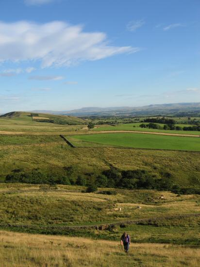 The view south from the steep start up Dufton Pike from the new access point