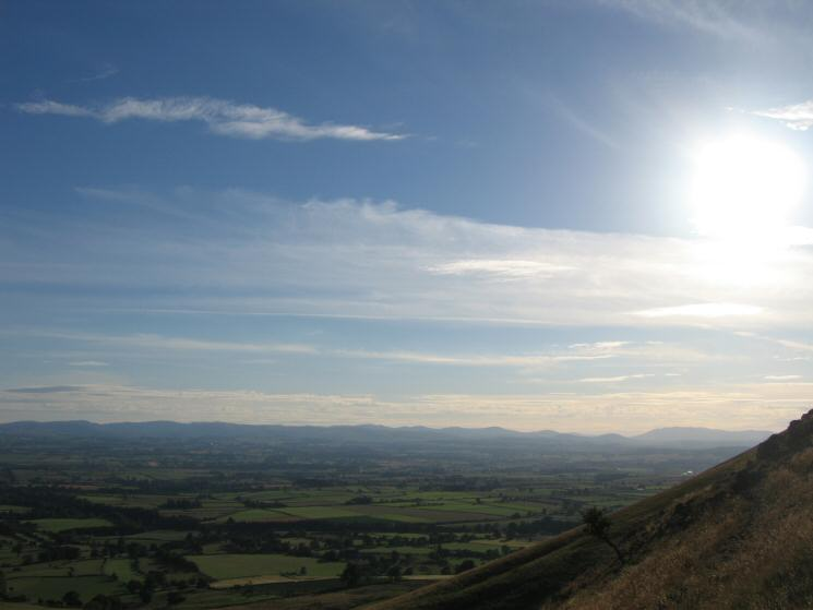 The view west to the Lake District fells