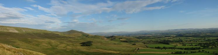 Southerly panorama from Dufton Pike