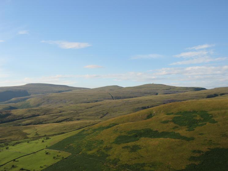 Cross Fell, Little Dun Fell and Great Dun Fell from Dufton Pike's summit