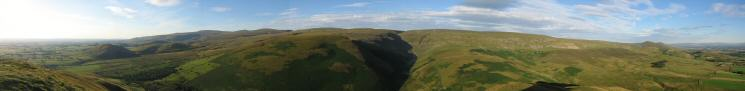 North Pennines panorama from Dufton Pike's summit