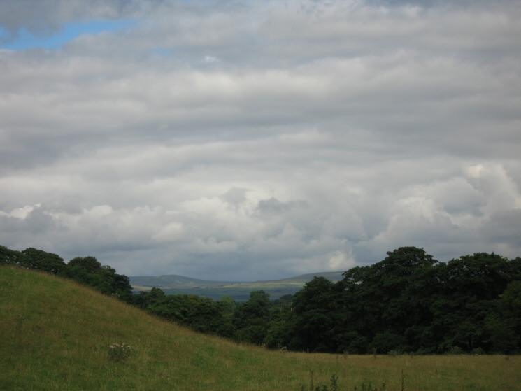 The North Pennines in the distance