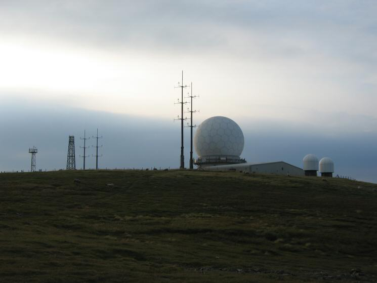 The radar station on the summit of Great Dun Fell