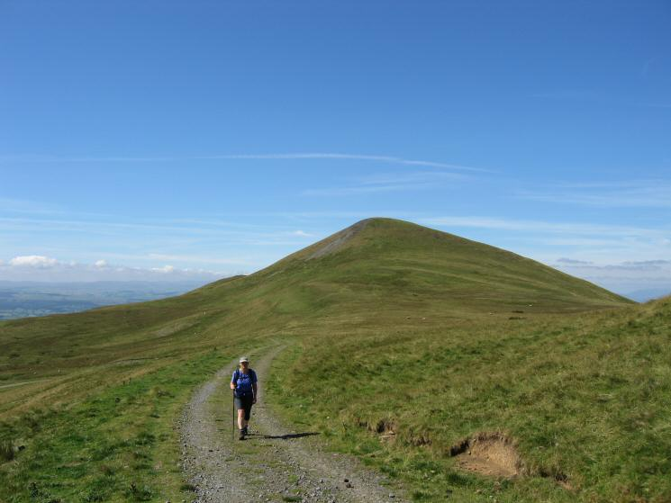 Heading along the track towards Murton Fell with Murton Pike behind