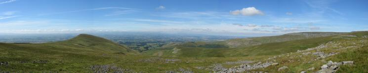 The view north west from the ascent of Murton Fell