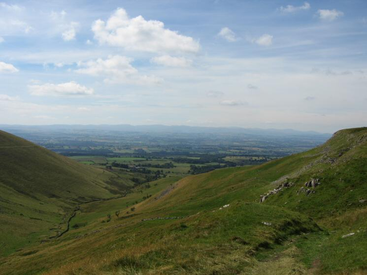 Looking down into Trundale with the Lakeland fells in the distance