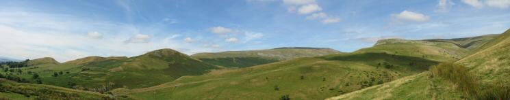 A northerly panorama: Keisley Bank to Middletongue Crag and Trundale