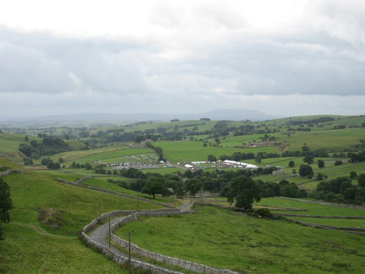 The showground and car park for the Malham Show