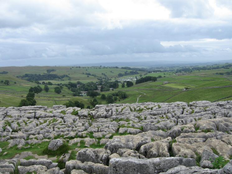 The view south from the top of Malham Cove