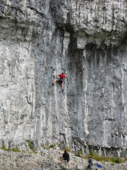 Climbers at Malham Cove