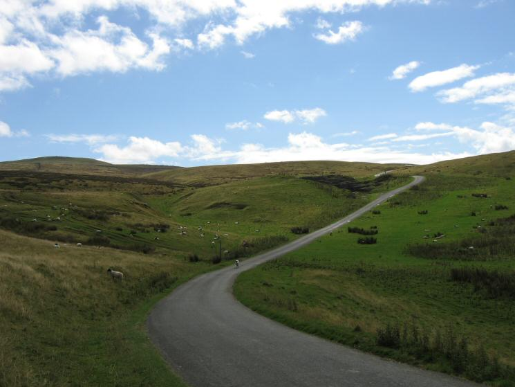 Looking up the B6270 which heads from Nateby to Keld in Swaledale