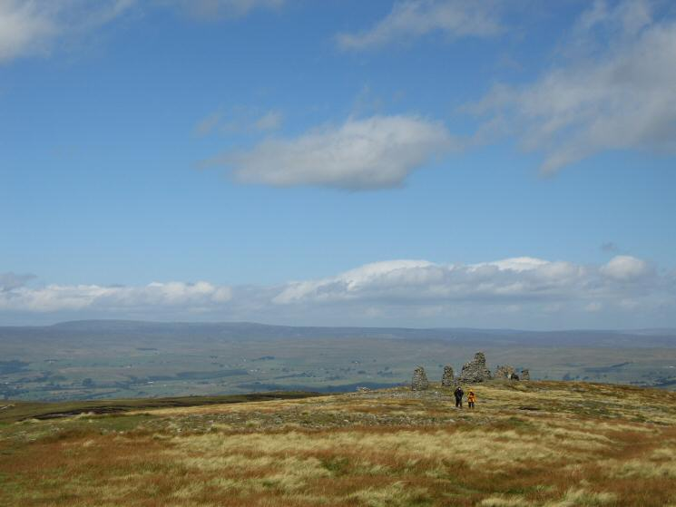 Nine Standards with the North Pennines in the distance