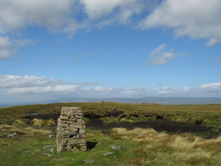 The trig point at Nine Standards Rigg summit