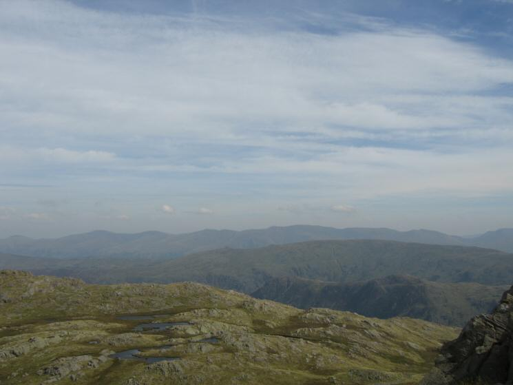 The Helvellyn ridge to the east
