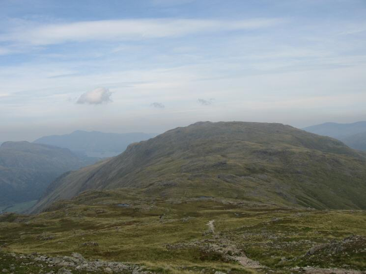 Looking back to Glaramara from the ascent of Allen Crags