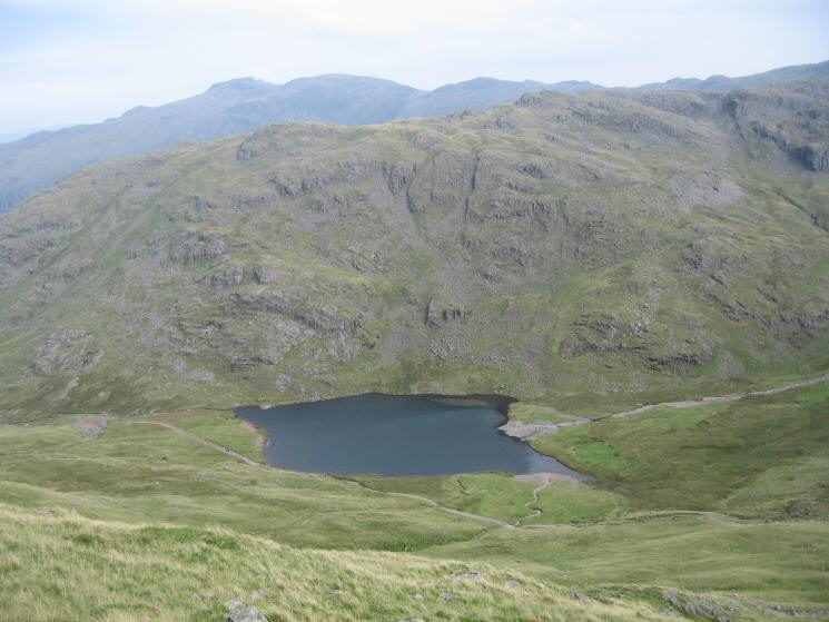 Styhead Tarn from the Breast Route up Great Gable