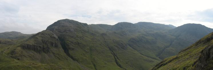Great End, Ill Crag, Broad Crag, Scafell Pike, Scafell and Lingmell from our ascent of Great Gable