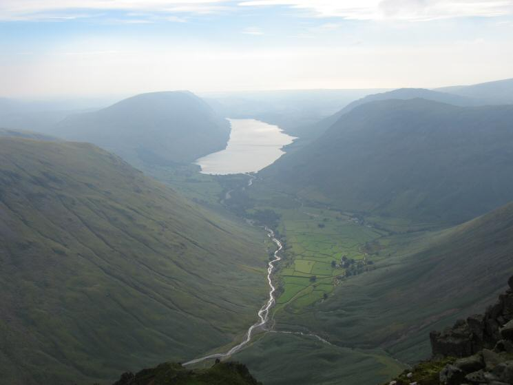 Wastwater from the Westmorland Cairn, Great Gable