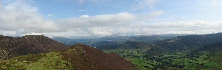 Causey Pike and the Newlands Valley from Ard Crags summit