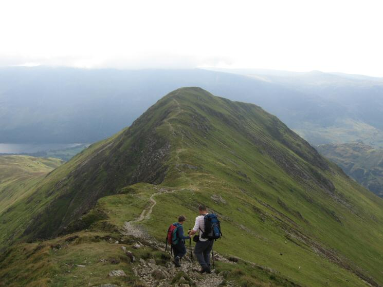 Descending Whiteless Edge, heading for Whiteless Pike