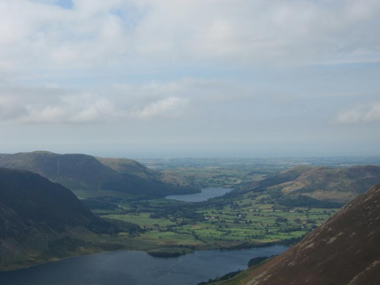 Looking over Crummock Water to Loweswater from Whiteless Pike