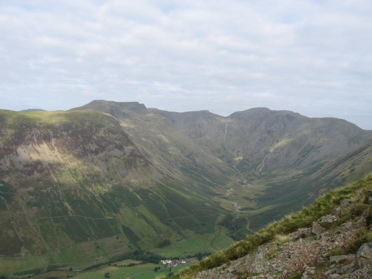 Mosedale with Pillar at its head and Red Pike the highest point on the skyline