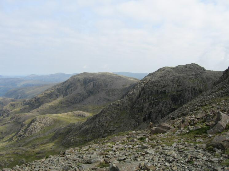 Great End and Broad Crag from the route up Scafell Pike from Lingmell Col