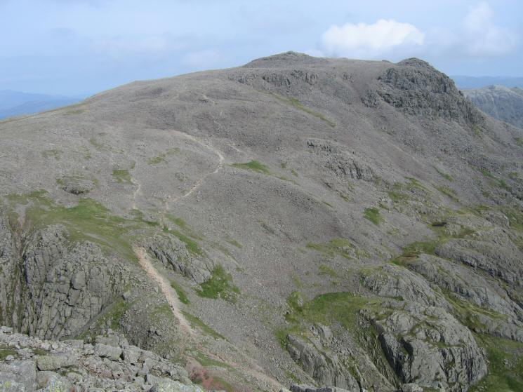 Scafell Pike from the top of Broad Stand