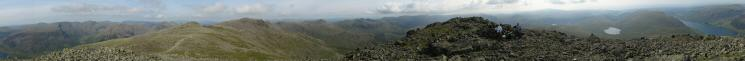 360 Panorama from Scafell's summit