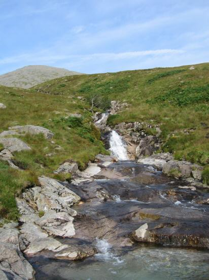 Hardrigg Gill with Scafell on the skyline