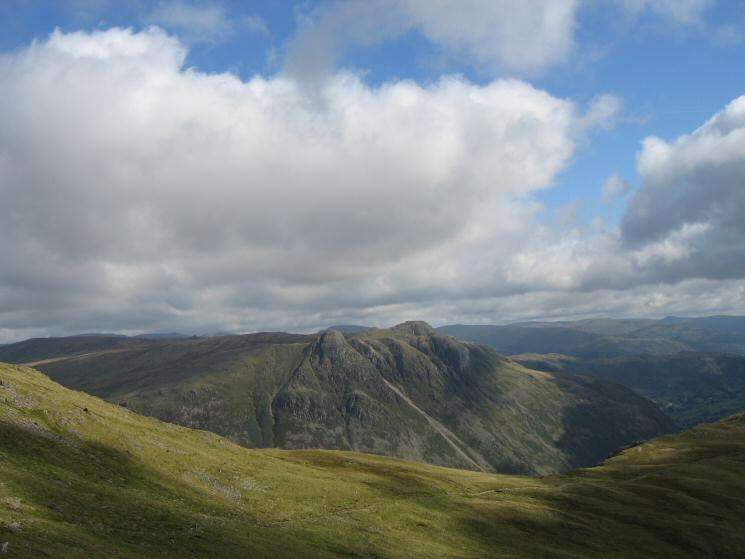 The Langdale Pikes seen over The Band